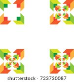 abstract vector icons  ...   Shutterstock .eps vector #723730087