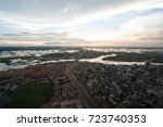 the helicopter shot from dhaka  ... | Shutterstock . vector #723740353
