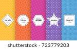 cute bright seamless pattern... | Shutterstock .eps vector #723779203