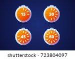 set of round timers  preloaders.... | Shutterstock .eps vector #723804097