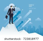 businessman looking through... | Shutterstock .eps vector #723818977