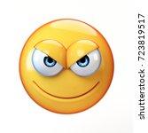 evil emoji isolated on white... | Shutterstock . vector #723819517
