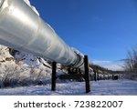 alaska pipeline system | Shutterstock . vector #723822007