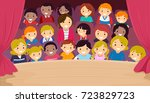 illustration of stickman kids... | Shutterstock .eps vector #723829723