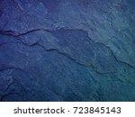 Dark Blue Slate Background Or...