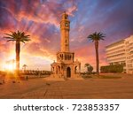 izmir clock tower. the famous... | Shutterstock . vector #723853357