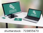 application update concept... | Shutterstock . vector #723855673