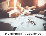 group of business partnership... | Shutterstock . vector #723858403