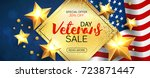 veterans day greeting card... | Shutterstock .eps vector #723871447