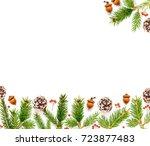 traditional christmas... | Shutterstock . vector #723877483