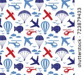 vector seamless pattern with... | Shutterstock .eps vector #723879433