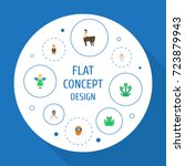 flat icons flying  huge man ...   Shutterstock .eps vector #723879943