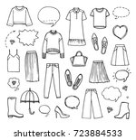 vector illustration of hand... | Shutterstock .eps vector #723884533