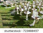 wedding setup | Shutterstock . vector #723888457