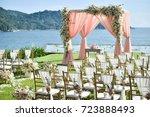 wedding setup | Shutterstock . vector #723888493