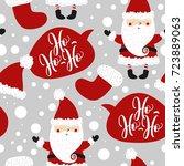 christmas background pattern...   Shutterstock .eps vector #723889063