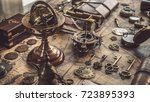armillary sundial zodiac... | Shutterstock . vector #723895393