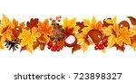 vector horizontal seamless... | Shutterstock .eps vector #723898327