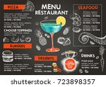 restaurant cafe menu  | Shutterstock . vector #723898357