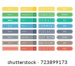 colorful website web buttons... | Shutterstock .eps vector #723899173