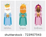 tags of the three wise men ... | Shutterstock .eps vector #723907543