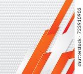 abstract geometric white  gray... | Shutterstock .eps vector #723910903