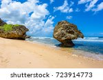 Rock Formation On The Beach Of...