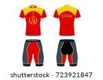 cccp sporstwear   cyclist... | Shutterstock .eps vector #723921847