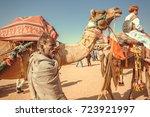jaisalmer  india   feb 1  2015  ... | Shutterstock . vector #723921997
