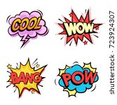 comic collection colored sound...   Shutterstock .eps vector #723924307