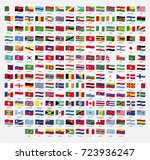 set of wavy flags. vector... | Shutterstock .eps vector #723936247