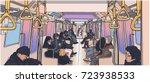 illustration of people using... | Shutterstock .eps vector #723938533