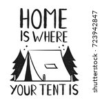 type hipster slogan home is... | Shutterstock .eps vector #723942847