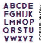set of alphabet text design | Shutterstock .eps vector #723950677