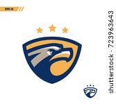 eagle colorful sports logo  ... | Shutterstock .eps vector #723963643