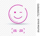 smile baby line vector icon | Shutterstock .eps vector #723989893