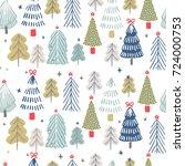 winter background. seamless... | Shutterstock .eps vector #724000753