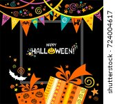 happy halloween. celebration... | Shutterstock .eps vector #724004617