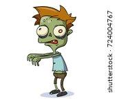 cartoon zombie  | Shutterstock .eps vector #724004767