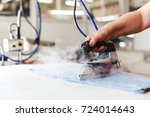 professional ironing in dry...   Shutterstock . vector #724014643