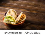 three types of arepas  latin... | Shutterstock . vector #724021033