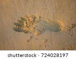 Footprint In The Sand. Right...