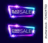 black friday sale. cyber monday ... | Shutterstock .eps vector #724029703