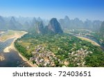 beautiful karst mountain... | Shutterstock . vector #72403651