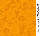 beautiful halloween seamless... | Shutterstock .eps vector #724041427