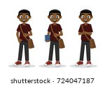 cartoon character  african... | Shutterstock .eps vector #724047187