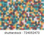 geometric pattern design  | Shutterstock .eps vector #724052473