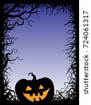 background with pumpkin  vector ... | Shutterstock .eps vector #724061317