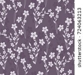 seamless floral pattern.... | Shutterstock .eps vector #724063213