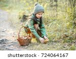children walking in the forest... | Shutterstock . vector #724064167
